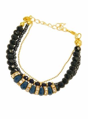 Gold - Navy Blue - Bracelet