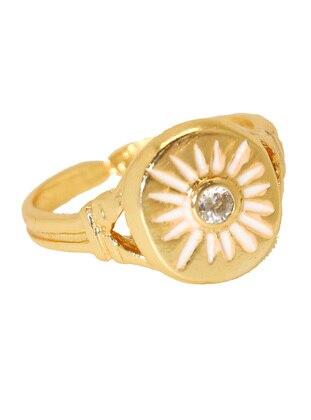 White - Gold - Ring