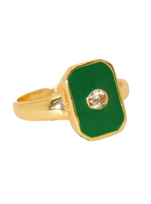 Gold - Green - Ring