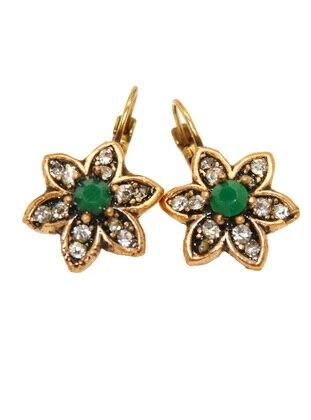 Gold - Green - Earring