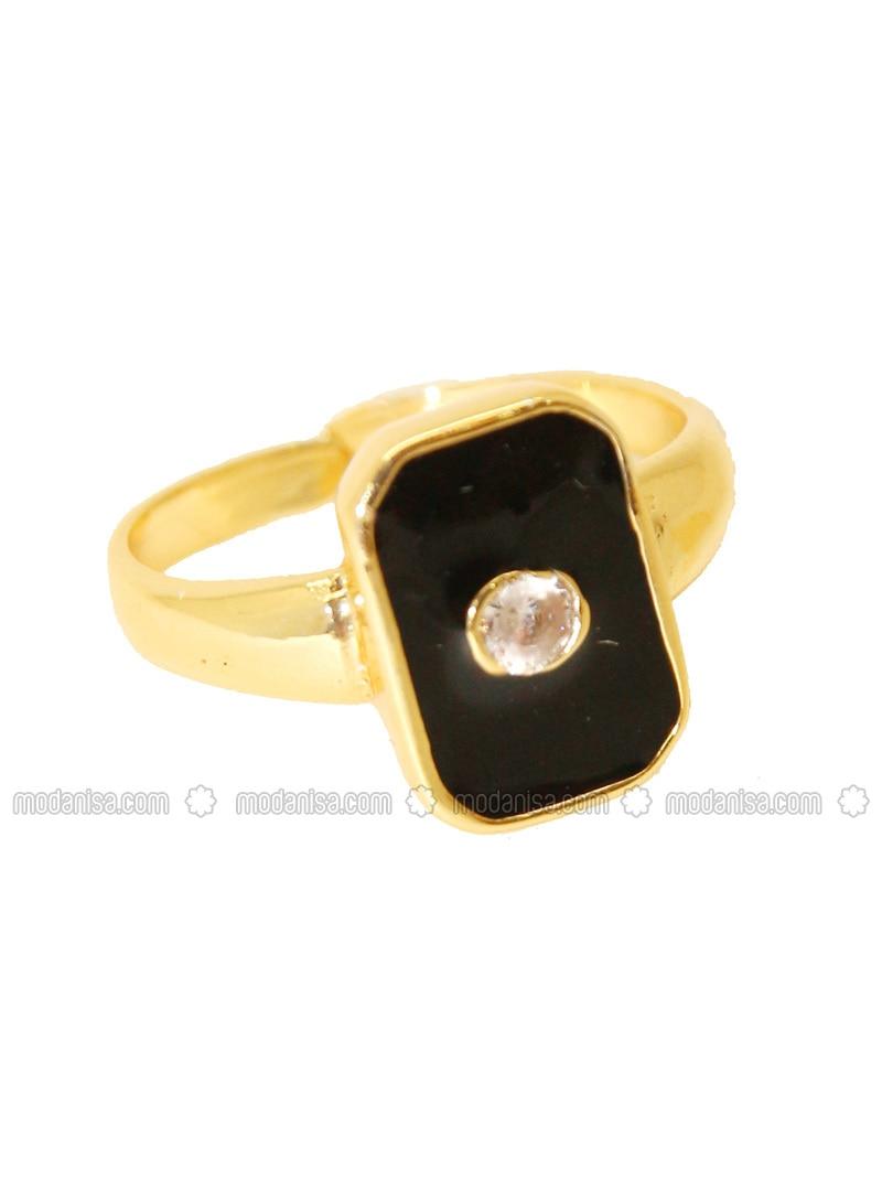 Gold - Black - Ring