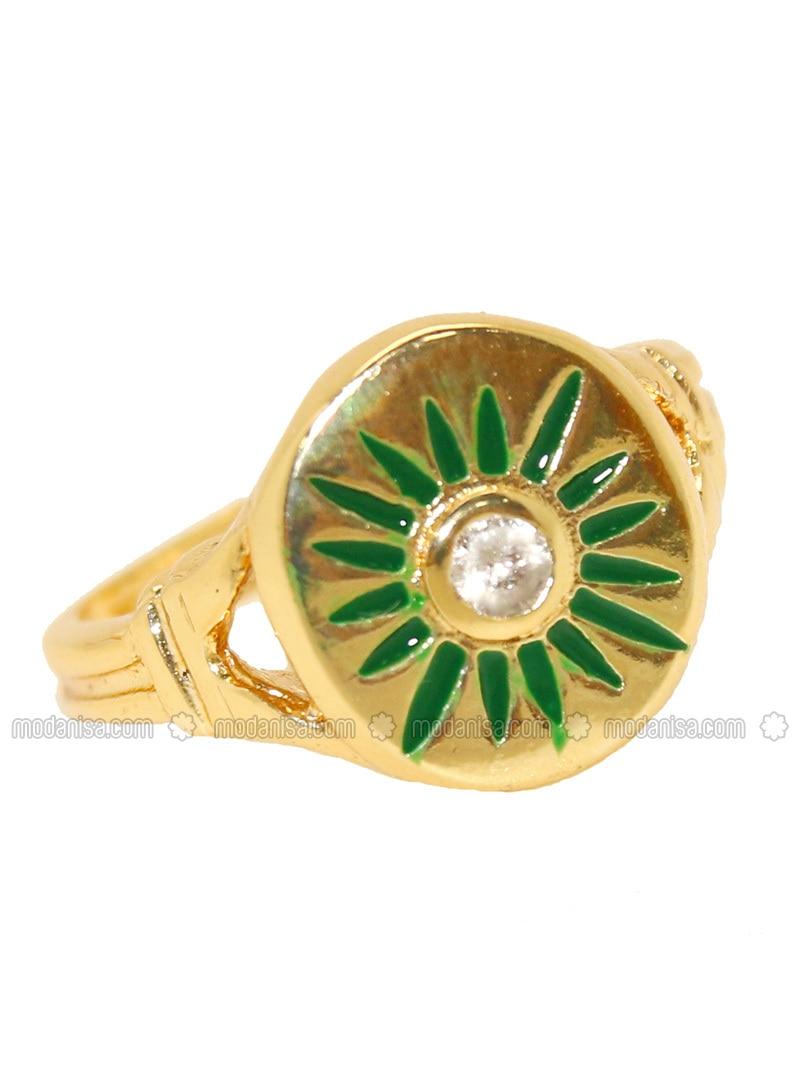 Gold - Green - Ring