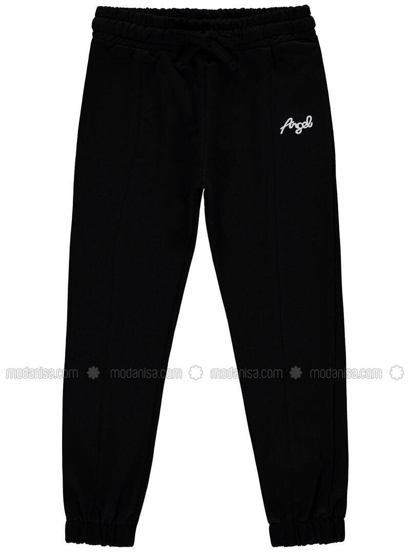 Black - Girls` Sweatpants