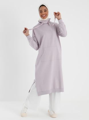 Polo neck - Lilac - Sweat-shirt - Basic