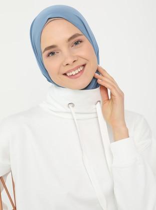 Polo-neck Pocket Sweatshirt - Coconut - Basic