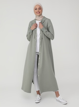 Olive Green - Green - Unlined - Topcoat