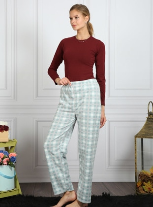 Mint - Checkered - Pyjama - AKBENİZ