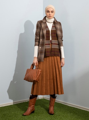 Brown - Brown - Unlined - Brown - Unlined - Brown - Unlined - Brown - Unlined - Skirt