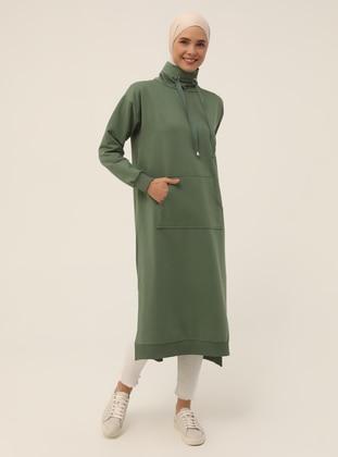 Polo neck - Green - Sweat-shirt