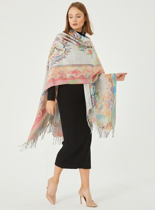 Acrylic - Multi - Shawl Wrap - Daisy Accessory