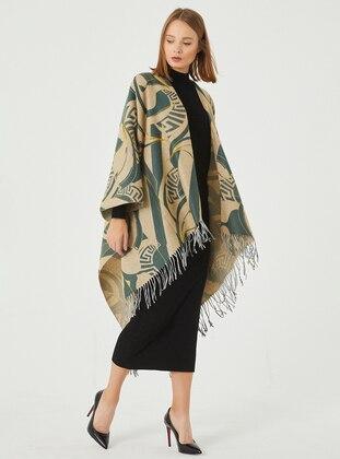 Acrylic - Mink - Green - Shawl Wrap - Daisy Accessory