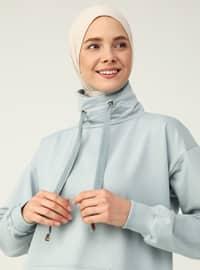 Polo neck - Blue - Sweat-shirt - Basic
