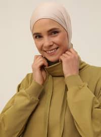 Polo-neck Pocket Sweatshirt - Oil Green - Basic