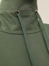 Polo neck - Green - Sweat-shirt - Basic