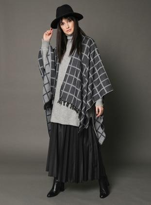 Multi - Stripe - Geometric - Checkered - Poncho