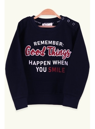 Navy Blue - Boys` Sweatshirt