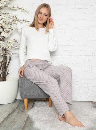 Gray - Polka Dot - Pyjama