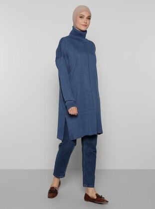 Indigo - Polo neck - Unlined - Knit Tunics