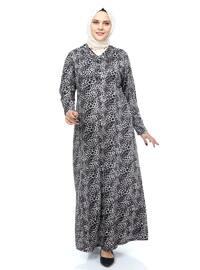 Mink - Leopard - Unlined - Crew neck - Plus Size Dress