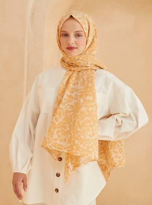 Yellow - Floral - Shawl