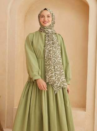 Green - Floral - Shawl