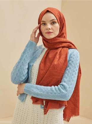Terra Cotta - Plain - Shawl