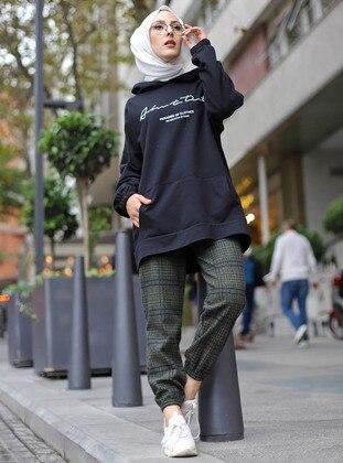 Khaki - Plaid - Pants