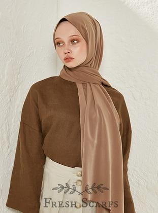 Camel - Brown - Plain - Shawl