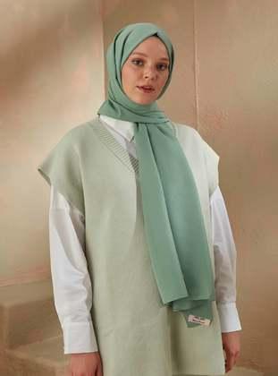 Sea-green - Green - Plain - Shawl
