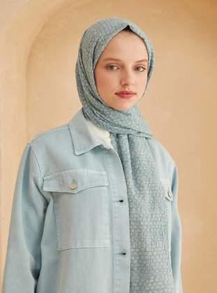 Blue - Striped - Shawl