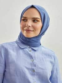 Blue - Plain - Shawl