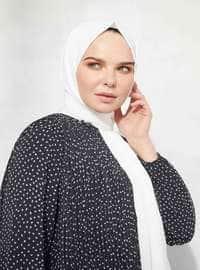 White - Ecru - Plain - Shawl