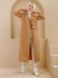 Mink - Unlined - Shawl Collar - Trench Coat