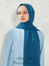 Indigo - Blue - Plain - Shawl