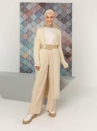 White - Ecru - Unlined - Knit Cardigans