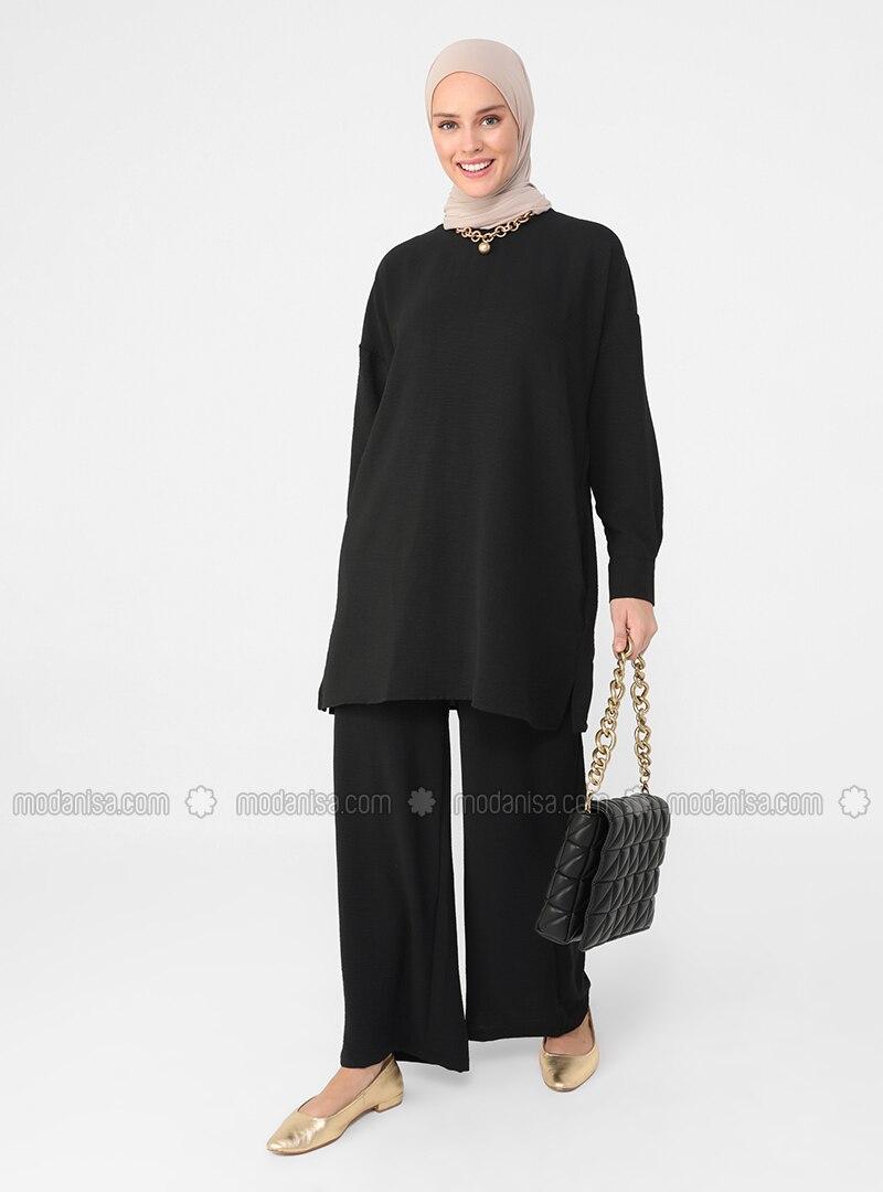 Black - Black - Black - Unlined - Suit