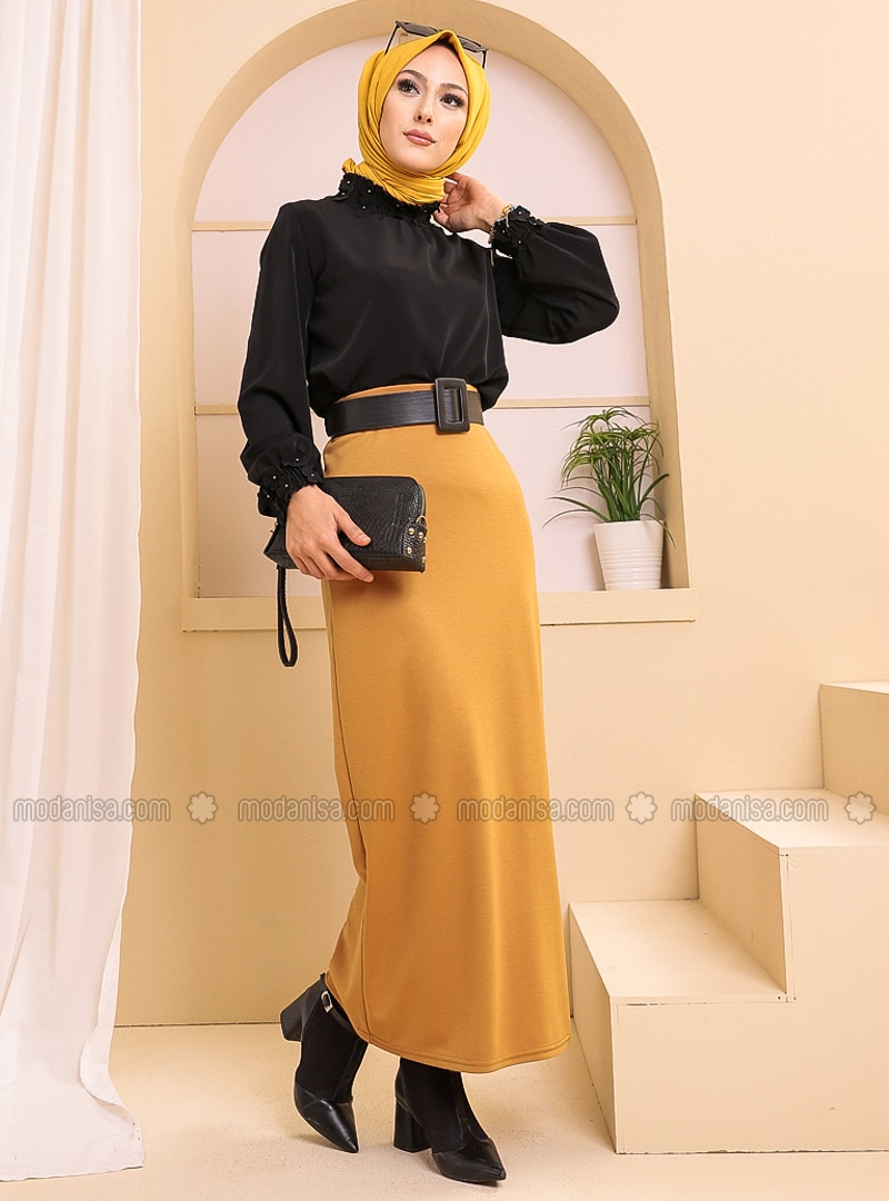 Mustard - Unlined - Skirt