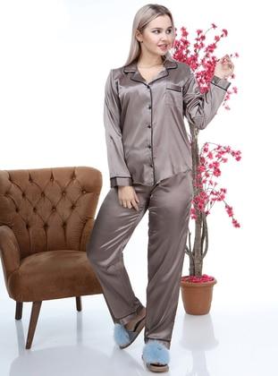 Mink - Shawl Collar - Pyjama Set