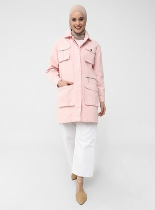 Powder - Unlined - Point Collar - Jacket - Casual