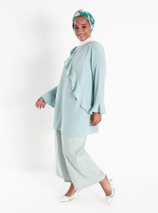Sea-green - Plus Size Pants