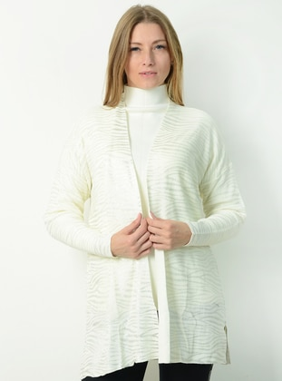 Ecru - Unlined - Knit Cardigans