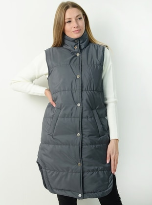 Gray - Unlined - Vest