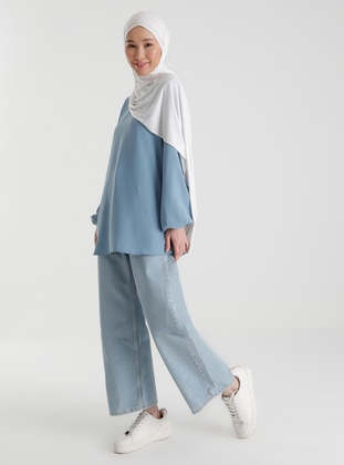 Ice Blue - Pants - Casual