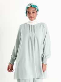 Oversize Unlined Tunic - Sea Green