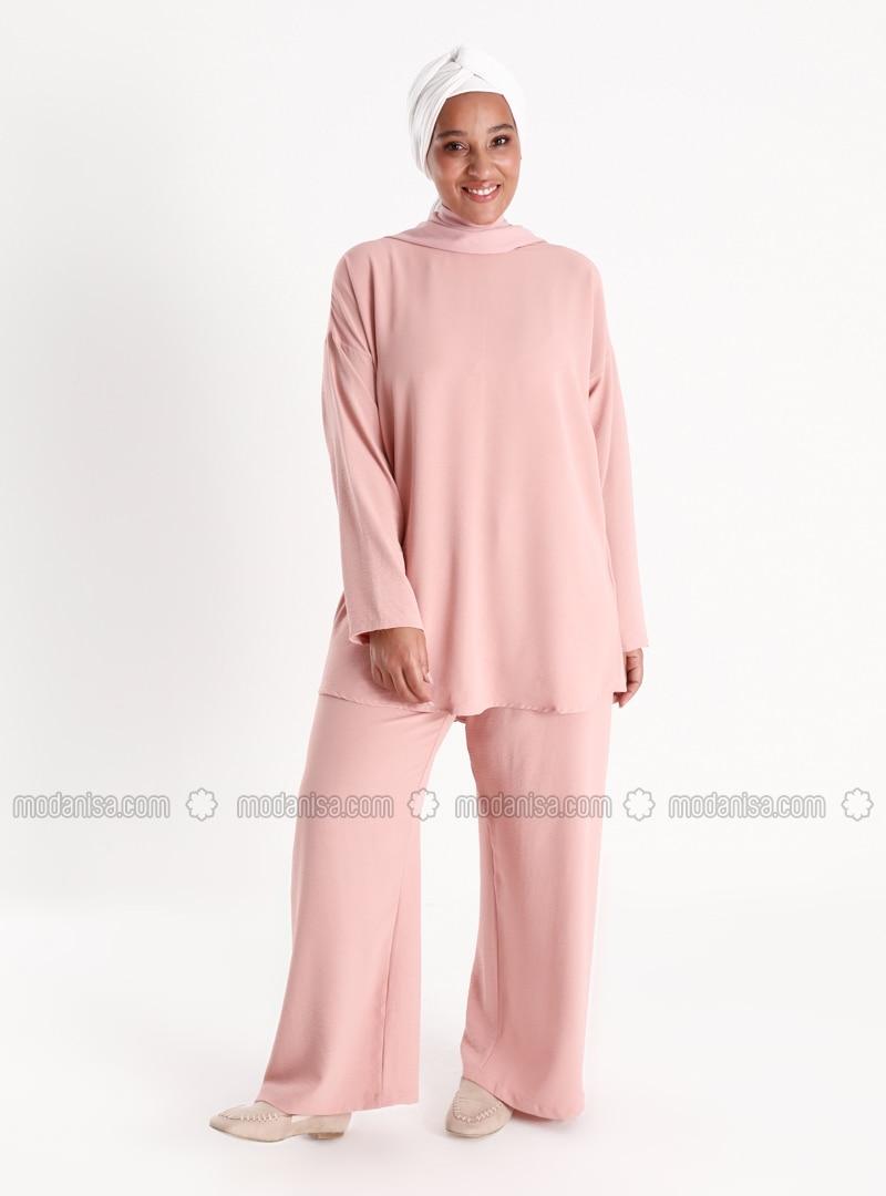 Oversize Tunic&Trousers Set - Powder