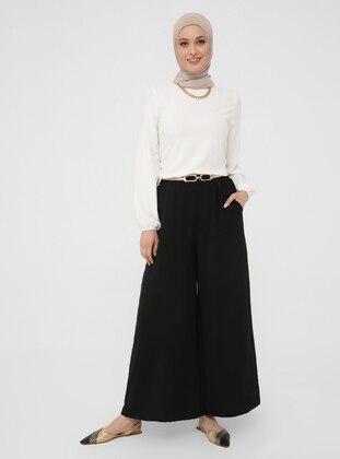 Black - Culottes - Refka Woman