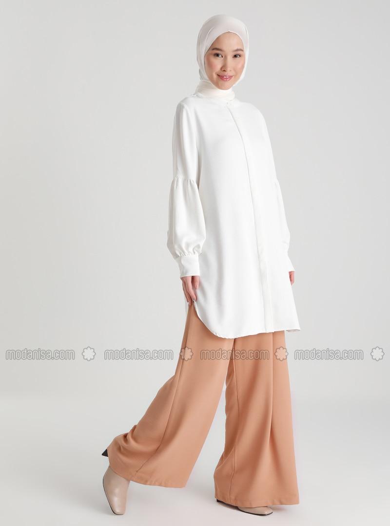 Ribbon Belt Aerobin Trousers Skirt - Tabac - Woman