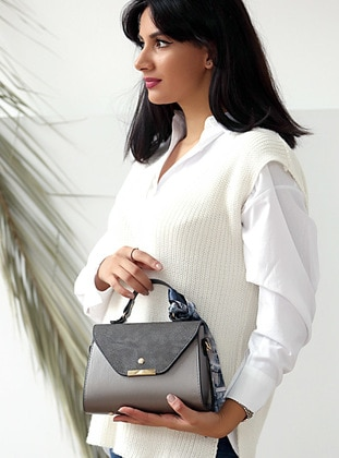 Gray - Crossbody - Satchel - Shoulder Bags