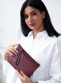 Maroon - Clutch - Shoulder Bags