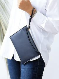 Navy Blue - Clutch - Shoulder Bags
